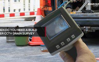 build over CCTV drain survey